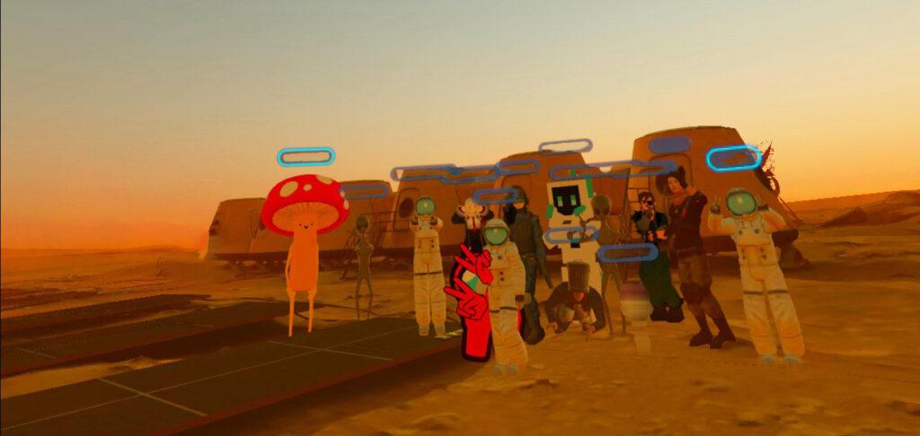 火星で記念撮影