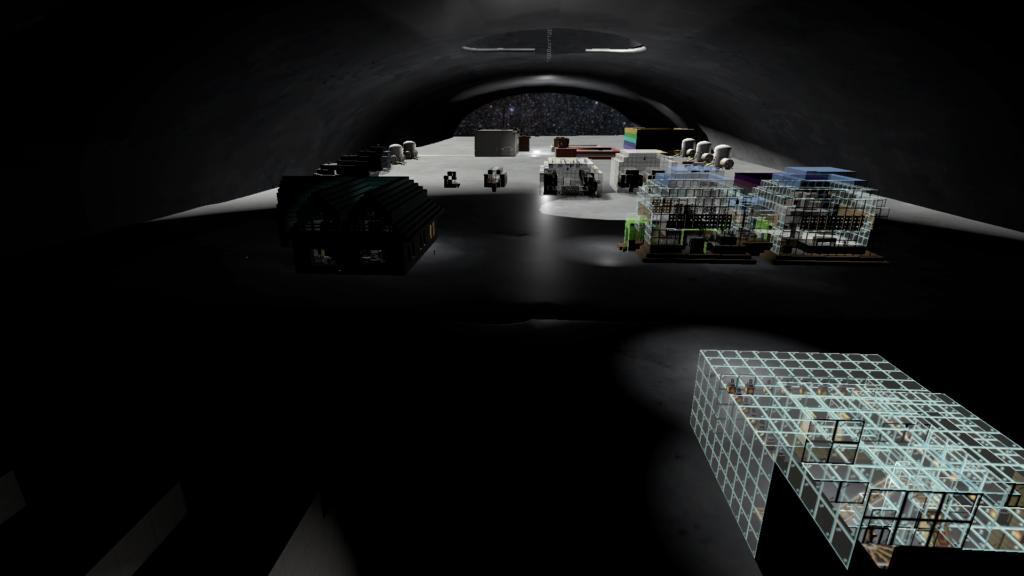 メンバーたちが創った、月面の地下に広がる基地