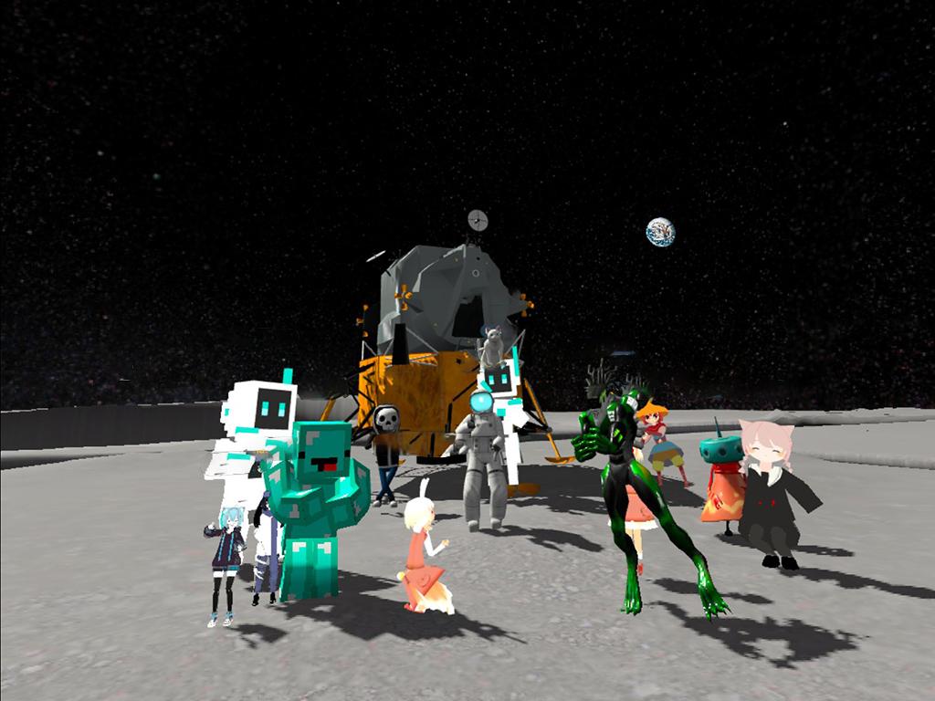 月での集合写真。よぉし次は木星だ!